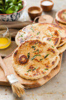 Yeast-Free, Quick Clean Eating Naan Bread Recipe