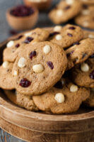 Cranberry Macadamia Nut Clean Eating Cookies Recipe