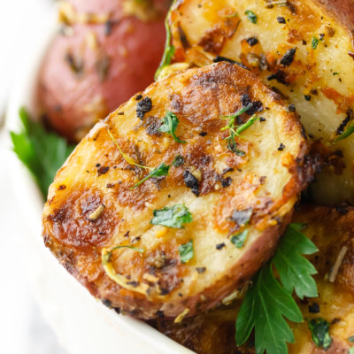 Lemon Parmesan Garlic Roasted Potatoes Recipe